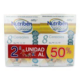 Nutriben Innova Papilla 8 Cerales Duplo (2x600g)