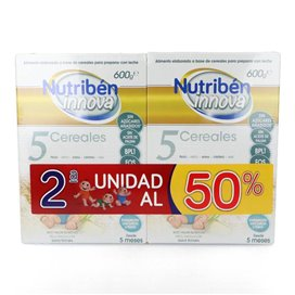 Nutriben Innova Papilla 5 Cerales Duplo (2x600g)