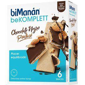 Bimanan Snack Chocolate Negro Y Praline 20 G 6 Biscuits