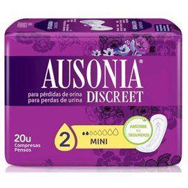 Absorb Inc Orina Muy Ligera Ausonia Discreet Mini 20 U