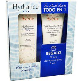 Avene Hydrance UV Emulsion SPF30 Light 40Ml + Make-up Remover Fluid 3In1 100Ml