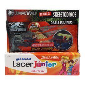 Lacer Junior Gel Dental Fresa 75 Ml + Dinosaurio Luminoso