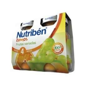 Nutriben Zumo Frutas Variadas 2x130Ml Bipack