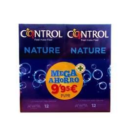 Control Preservativos Nature Duplo 2X12 Mega Ahorro