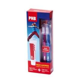 PHB Pack Pasta Dental Total + 2 Cepillos Classic Medio