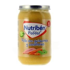Nutriben Pollo Con Guisantes Y Zanahorias Potito 235G