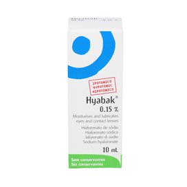 Hyabak 0.15% Solucion Hidratante 10 Ml