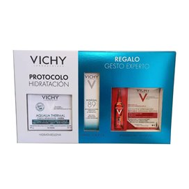 Vichy Aqualia Thermal Piel Normal 50Ml + Mineral 89 10Ml + 1 Ampolla Peptide-C